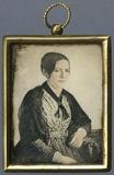Thumbnail preview of Frauenporträt. Kolorierte Miniatur Daguerreot…