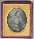 Miniaturansicht Vorschau von Madame Daguerre seen seated in three quarter …