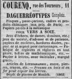 Visualizza Advertisement for Courenq, ... Daguerréotypes… anteprime su
