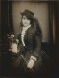 Visualizza Porträt einer unbekannten Dame mit modischem … anteprime su