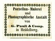 Visualizza Etikett von G. Pauli & Comp. anteprime su
