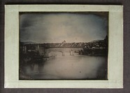 Thumbnail preview of A covered Bridge over the Rhine, with the riv…
