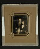 Miniaturansicht Vorschau von Selbstporträt mit Freund oder Bruder, 1852