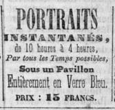 Visualizza Advertisement for Portraits instantanés, ... … anteprime su