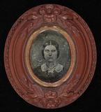 Visualizza Brustbild einer jungen Frau mit kleinem weiße… anteprime su