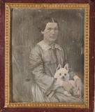 Forhåndsvisning av Unbekannte Frau mit einem Hund