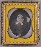 Thumbnail preview of Halbporträt einer Frau mit weißer Haube in ei…