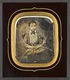 Visualizza Léon Bard, enfant, tenant un cerceau anteprime su