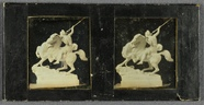 Miniaturansicht Vorschau von Stilleven met beeld van strijder met speer te…