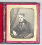 Visualizza Half length portrait of a seated man,  with o… anteprime su