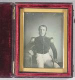 Visualizza Three quarters length portrait of a military/… anteprime su