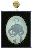 Visualizza Seated cadet  He has an arms held out and the… anteprime su
