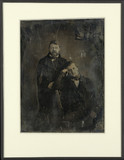 Visualizza Portrait de deux hommes, l'un debout, l'autre… anteprime su