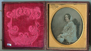 Thumbnail preview of Three quarter length tinted portrait of seate…