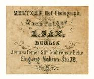 Visualizza Etikett von Meltzer, Nachf. L. Sax anteprime su