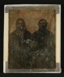 Thumbnail preview van Ehepaar und Töchterchen, um 1850.