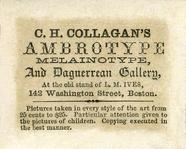 Visualizza photographers label of C. H. Collagan, Boston… anteprime su