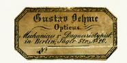 Thumbnail preview van Etikett von Gustav Oehme