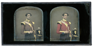 Visualizza Stereo portrait of a young  military man of t… anteprime su