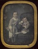 Visualizza Portrait de deux enfants anteprime su