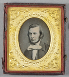 Thumbnail preview of Head and shoulders portrait of a man with pal…