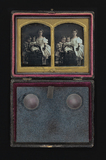 Miniaturansicht Vorschau von Family group portrait of a three children, th…