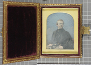 Visualizza Hand-coloured, with gold highlights, daguerre… anteprime su