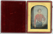 Visualizza Three quarter length portrait of a young man … anteprime su
