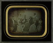 Thumbnail preview van Portrait de groupe devant une toile peinte (d…