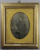 Visualizza Three-quarter length portrait of a seated man… anteprime su