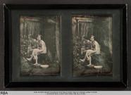 Visualizza Sitzender Frauenakt vor einem Spiegel anteprime su