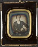 Visualizza Dorothea Jensen (1831/1832? - ) sittende ved … anteprime su