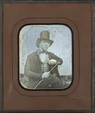 Miniaturansicht Vorschau von Portrait d'homme en haut-de-forme, un jonc à …