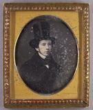 Thumbnail preview of Brustporträt eines jungen Mannes mit Chapeau …