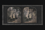 Visualizza stereo image of statues or sculptures, in a g… anteprime su
