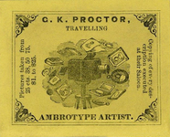 Visualizza photographers label of G. K. Proctor, USA anteprime su
