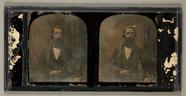 Visualizza Herrenbildnis, halbe Figur, stehend, um 1850 anteprime su