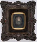 Visualizza Portret van een vrouw in een gestreepte jurk,… anteprime su