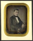 Esikatselunkuvan Portrait d'homme, à mi-corps, assis, de trois… näyttö