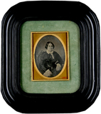 Thumbnail preview of Portrait of a sitting  middle-aged woman with…
