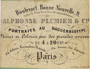 Visualizza photographer label of Alphonse Plumier, a Par… anteprime su