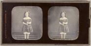 Miniaturansicht Vorschau von Stereodaguerreotypie eines Mädchens mit Steck…