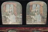 Visualizza Portrett av en sittende mann og en kvinne som… anteprime su