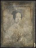 Thumbnail preview van Gemäldereproduktion einer jungen Frau mit Hal…