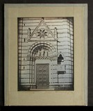 Miniaturansicht Vorschau von The entrance to the Baptistery in Pistoia, sh…