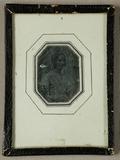 Miniaturansicht Vorschau von Dame sitzend, mit Korkenzieherlocken, um 1845…