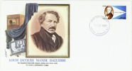 Thumbnail preview of commemoration envelop with image of Daguerre,…
