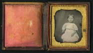 Thumbnail preview of Seated three quarter length portrait of child…