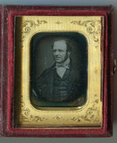 Thumbnail preview of Half length portrait of a man looking to the …