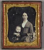 Visualizza Portrait of a woman with a child. Puolikuvass… anteprime su